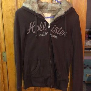 Hollister Faux Fur Zip-up